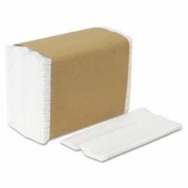 WHITE DISPENSER NAPKIN, 1-PLY, TALL FOLD (10,000)