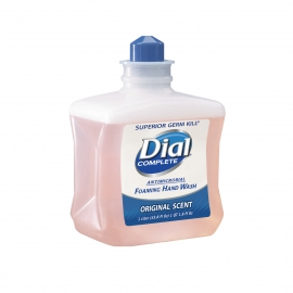 DIAL COMPLETE FOAMING HAND SOAP CARTRIDGE, ANTIMICROBIAL, 1 LITER (6/CASE)