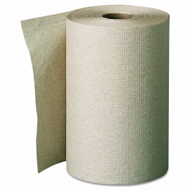 "BROWN ROLL PAPER TOWEL, 8"" X 350' (12)"