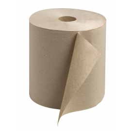 "BROWN ROLL PAPER TOWEL, 8"" X 750' (6)"