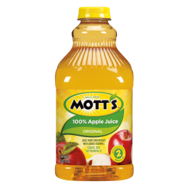 MOTT'S APPLE JUICE, 64 OZ, PLASTIC BOTTLES (8)