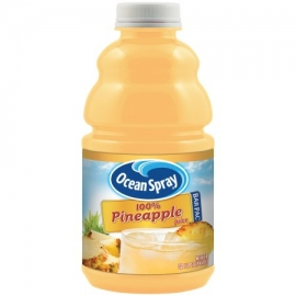 OCEAN SPRAY PINEAPPLE JUICE IN 32 OZ, BARPAC W/ 1-SPOUT/CASE (12)