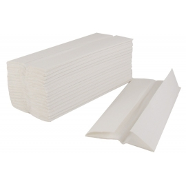 WHITE PAPER TOWEL, 1-PLY, C-FOLD (2,400)
