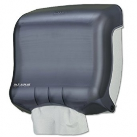 SAN JAMAR MULTIFOLD / C-FOLD PAPER TOWEL DISPENSER, TRANSLUCENT BLACK (EACH)