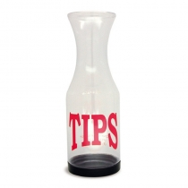 TIP JAR, PLASTIC, W/REMOVABLE