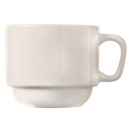 WTI CUP / MUG, 7 OZ, STACKING, BRIGHT WHITE - 36 PER CASE