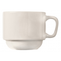 CUP, 7 OZ STACKING, BRIGHT WH